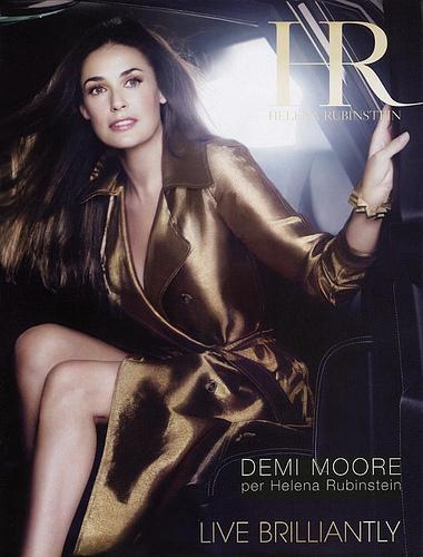 Demi Moore in the Helena Rubinstein ad